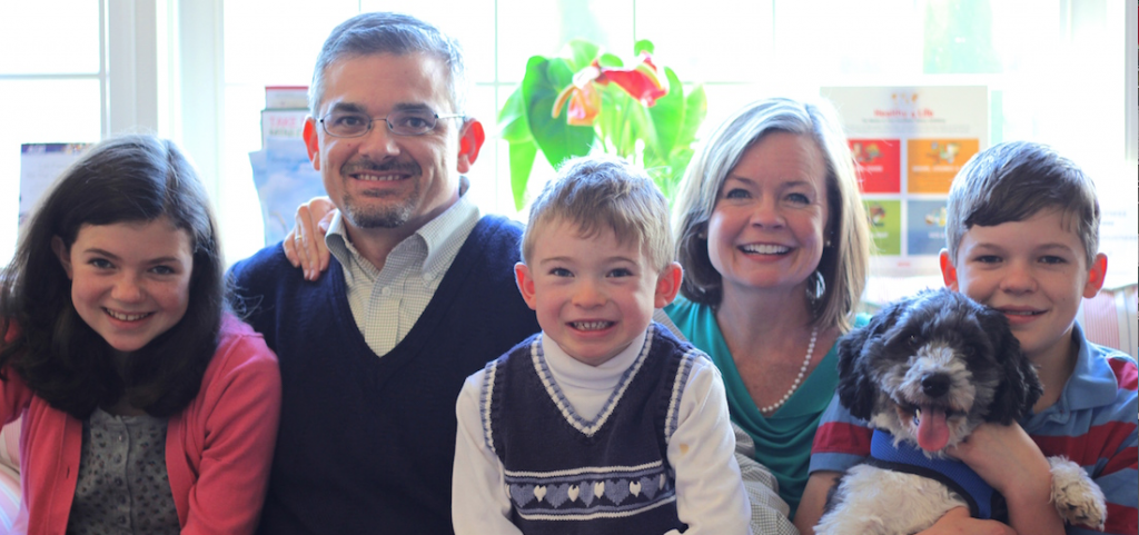 Dr. Anne Stewart with family